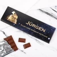 Extragroße Schokolade zum 70. Geburtstag
