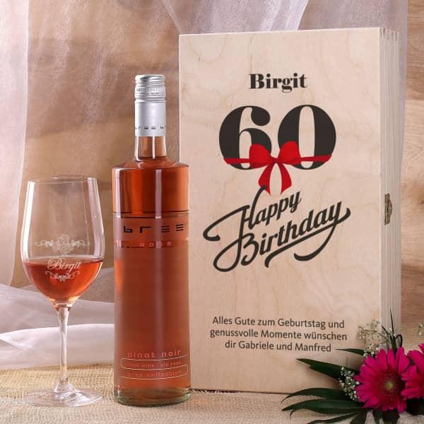 Wein-Geschenkset zum 60.