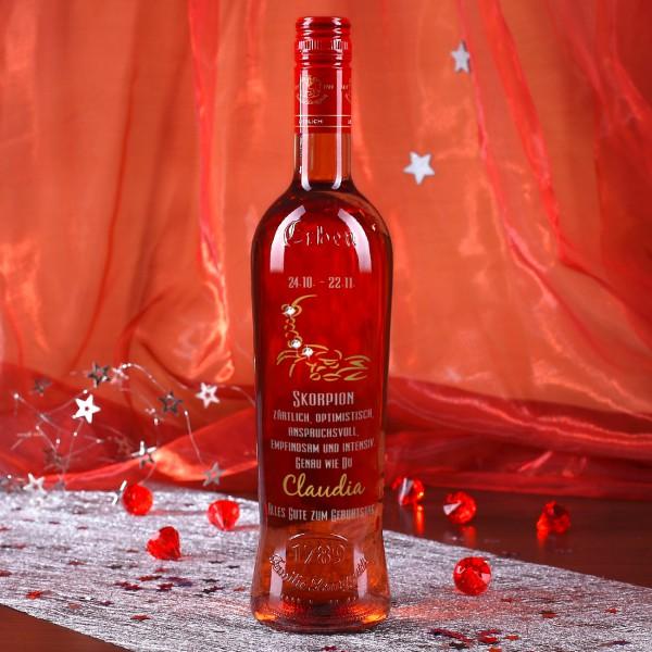 Weinflasche mit Ihrem Sternzeichen graviert - Skorpion