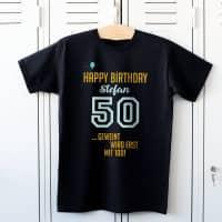 Shirt zum 50. Geburtstag - Geweint wird erst mit 100