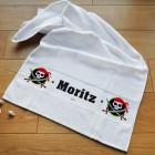 Piraten-Handtuch mit Namensaufdruck für Kinder