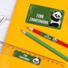 Schulaufkleber - Set mit Panda, in 3 Größen