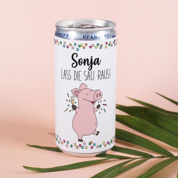 Seccodose mit Partyschweinchen zum Geburtstag