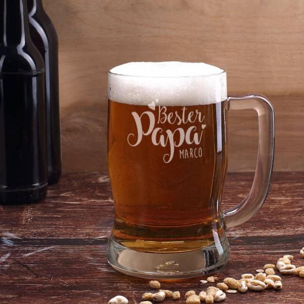 Bierseidel Bester Papa mit Wunschname