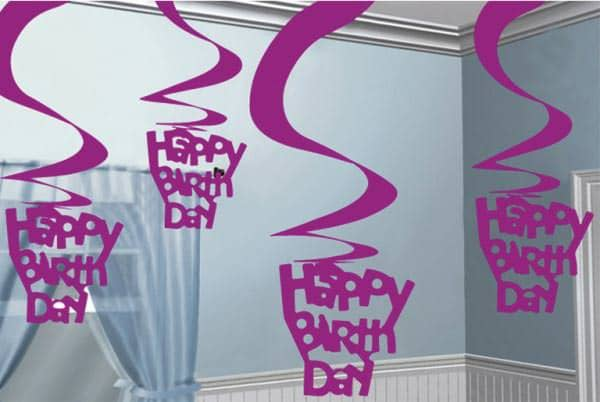 Deckenhänger Happy Birthday