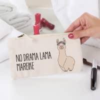 Lama-Beautycase mit Wunschtext und Ihrem Namen