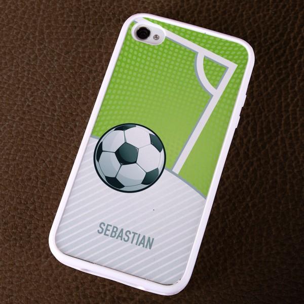 Handyhülle für Fußballfans mit Wunschname