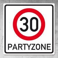 Riesiges PVC Verkehrsschild zum 30. Geburtstag