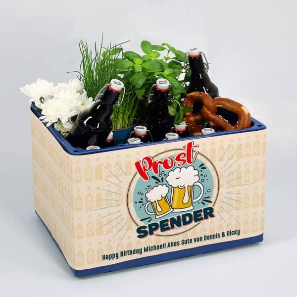 Prostspender Bierbanderole mit Wunschtext und Aufkleber