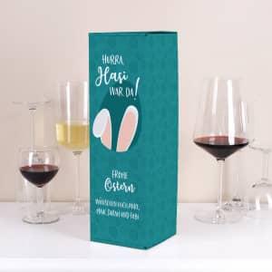 Flaschenverpackung zu Ostern mit Text
