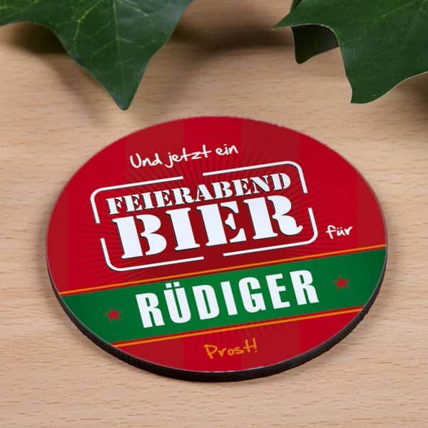 Bier Untersetzer mit Namen