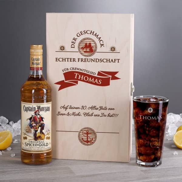 Captain Morgan Rum Geschenk Freunde