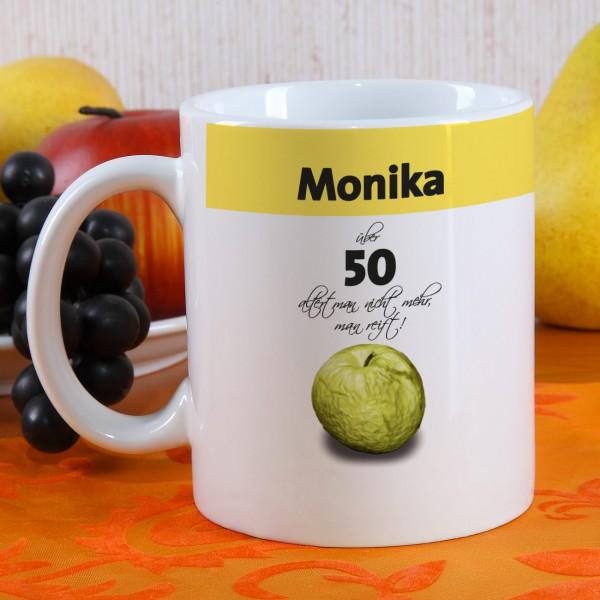 Humorvolle Tasse zum Geburtstag