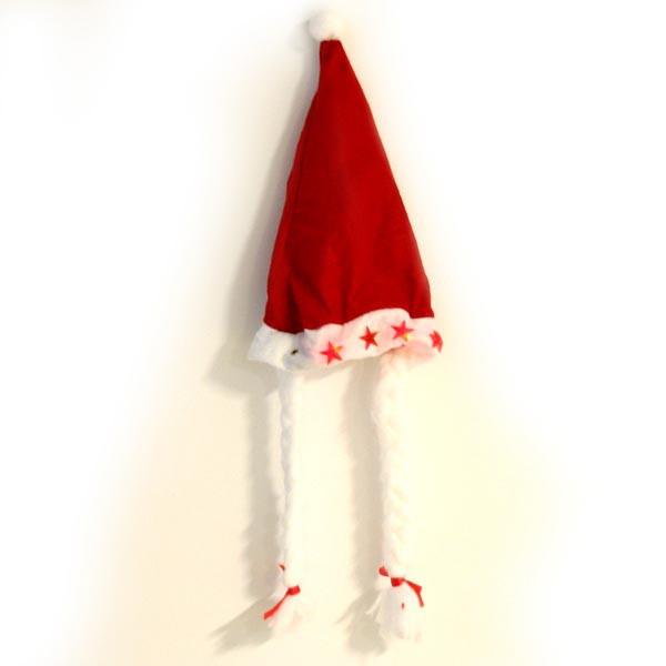 Nikolausmütze mit Zöpfen