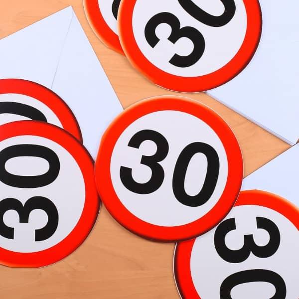 Verkehrszeichen Karten im 6er Set