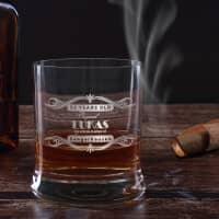 graviertes Whiskyglas mit Wunschname, Alter und Ort