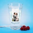 Modernes Trinkglas mit Ihrem Foto in Hoch- oder Querformat