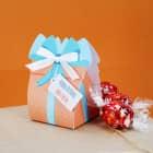 Kleine Geschenkschachtel mit 3 Lindorkugeln zum Geburtstag