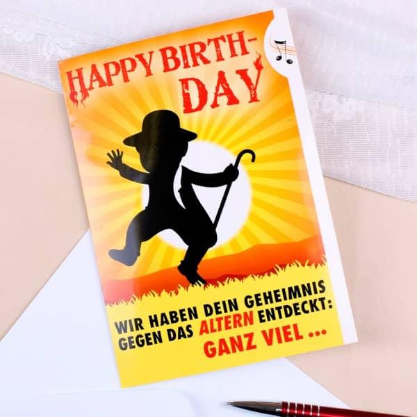 Geburtstagskarte für echte Rocker im Alter