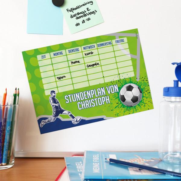 Fußball Stundenplan mit magnetischer Rückseite