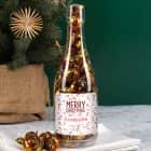 Weihnachtliche Pralinenflasche mit Namensaufdruck