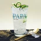 Trinkglas - Papa seit - mit den Namen der Kinder bedruckt