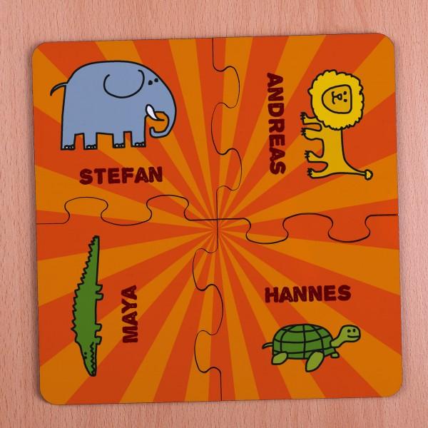 Untersetzer Puzzle *Wilde Tiere* 4 teilig