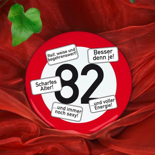 Button zum 82. Geburtstag
