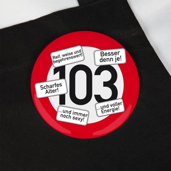 Riesen Button Verkehrsschild 103 bei Geburtstagsgeschenke Online