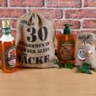 Geburtstagsgeschenkset Alter Sack zum 30. (4-teilig)