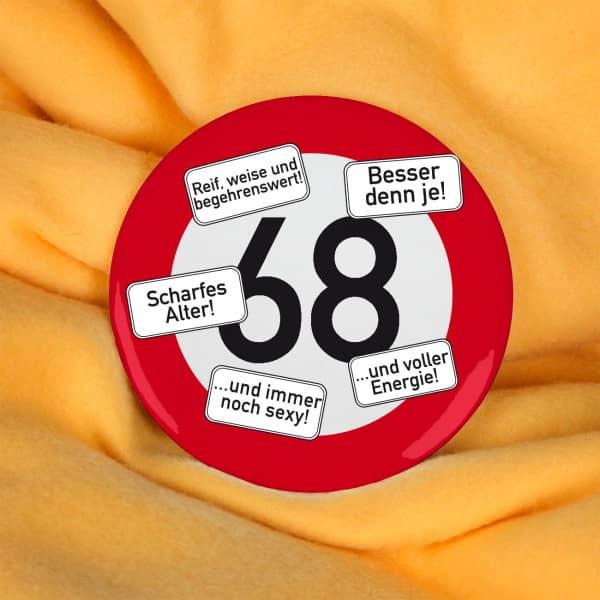 Button zum 68. Geburtstag