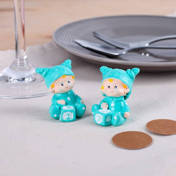 Babyfiguren in türkis 2er Set