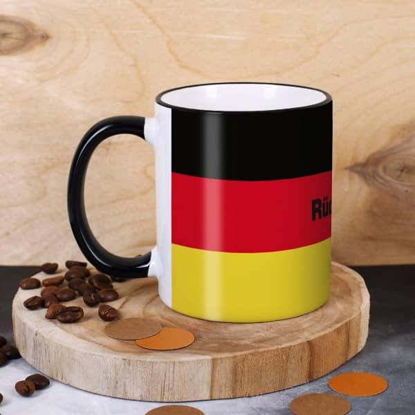 Tasse mit Deutschlandfahne und Namen