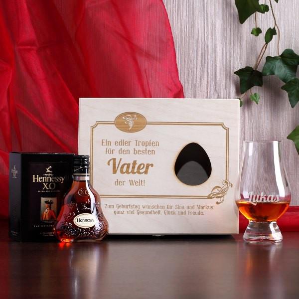 Hennessy Geschenk Set mit graviertem Nosing-Glas