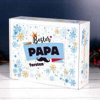Bester Papa - Adventskalender zum selbst Befüllen mit Name
