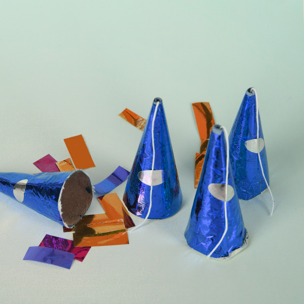 4 Party Knaller in Blau