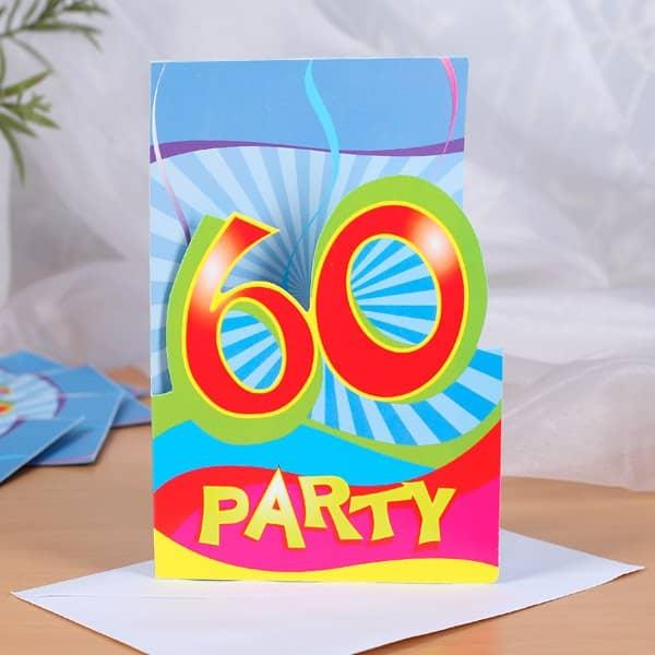 einladungskarten zum 60 geburtstag geschenke. Black Bedroom Furniture Sets. Home Design Ideas