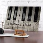 Piano - Leinwand mit zwei Zeilen Text 40x60cm