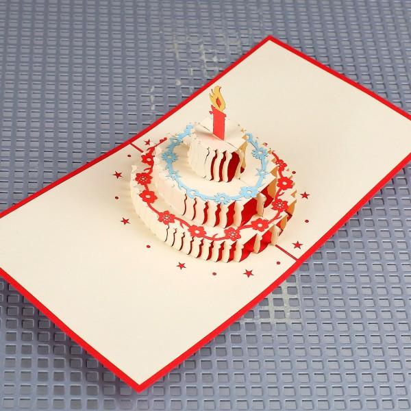 3D-Grußkarte zum Geburtstag - Tortenzauber