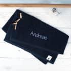 Handtuch in nachtblau mit Name bestickt, 3 Größen zur Auswahl, Badetuch, Gästehandtuch