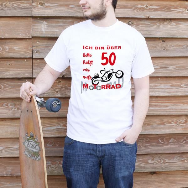 weißes T-Shirt mit spaßigem Aufdruck