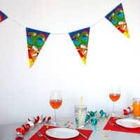 Bunte Wimpelkette zum 30. Geburtstag
