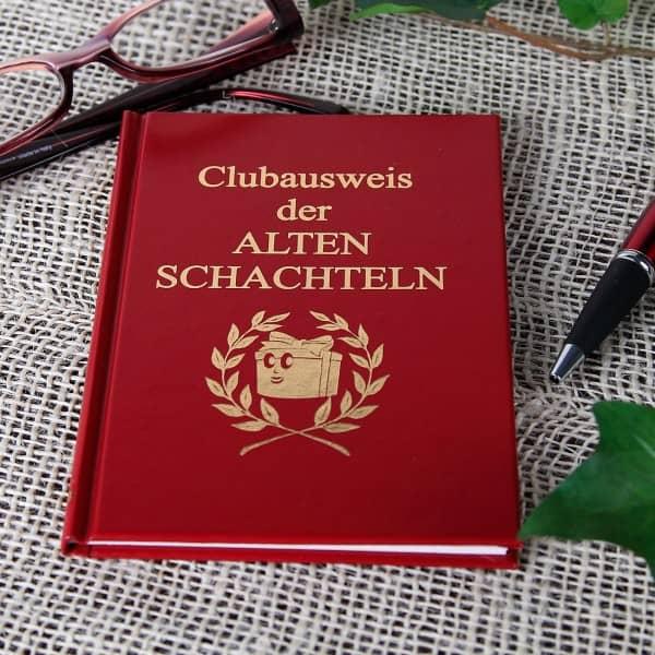 Spaßbuch Clubausweis der alten Schachteln