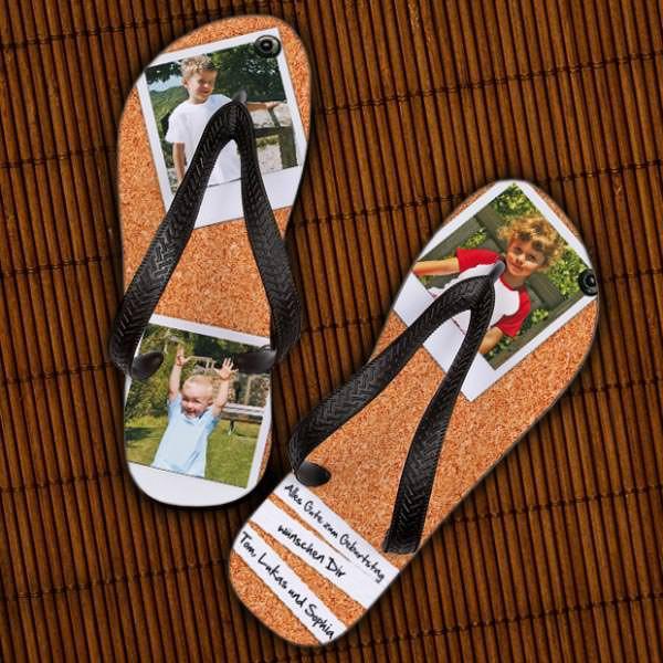 Sandalen bedruckt mit Ihren Fotos und Wunschtex...