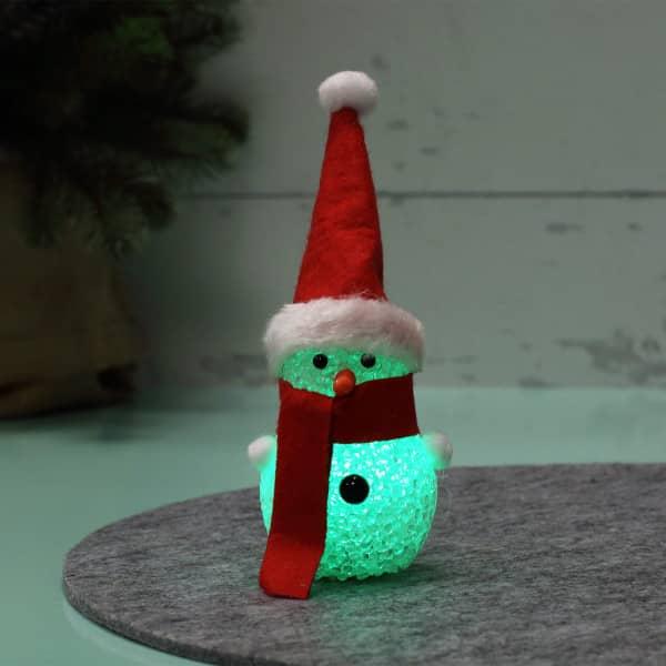 LED-Schneemann mit Farbwechsel