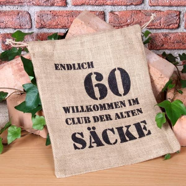 Alter Sack Mit Jahreszahl 60