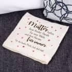 Kirschkernkissen für Mütter mit schönem Spruch bedruckt
