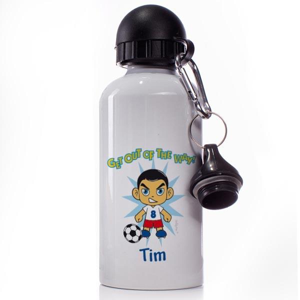 Trinkflasche Manga Fußball. Namen