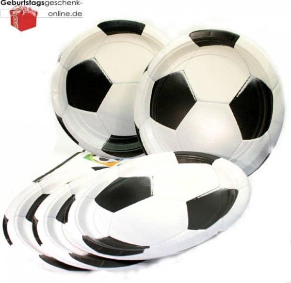 Pappteller Fußballfieber