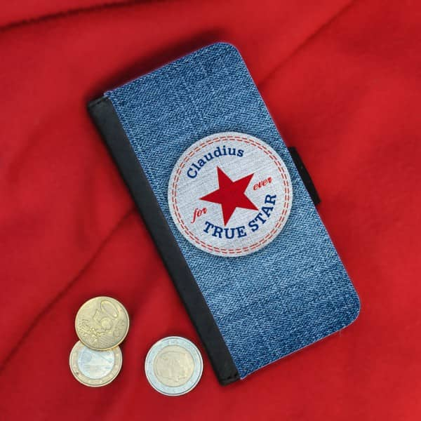 Flipcase True Star - in Jeansoptik für iPhone 5(s)